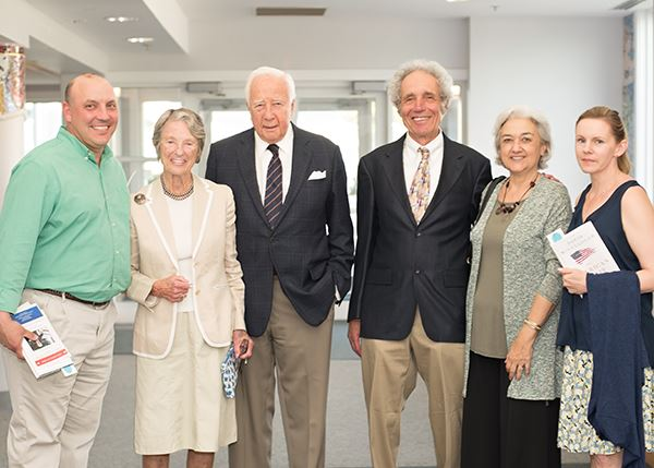 Joe Perry, David McCullough, Ed Wise, and families