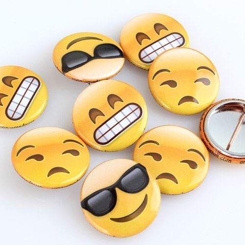 smile face buttons