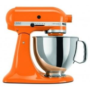 Kitchen Aid standing mixer and bowl.
