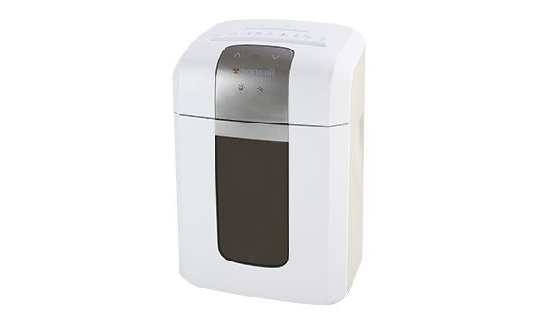 A two foot tall paper shredder.