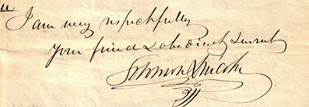 Letter signed by Solomon written to John Quincy Adams