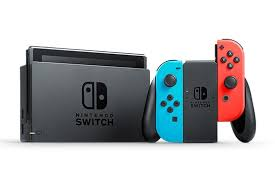 The Nintendo switch console with its controller.