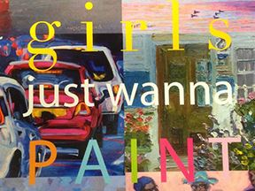 Girls Just Want to Paint Art Card 4x3