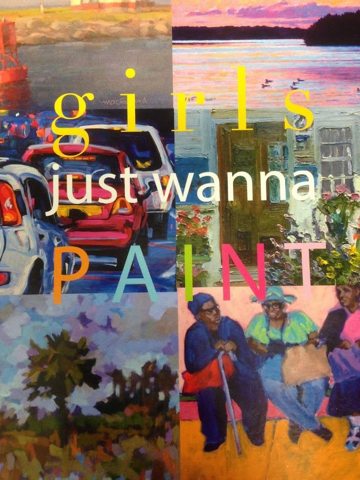 Girls Just Want to Paint Art Card