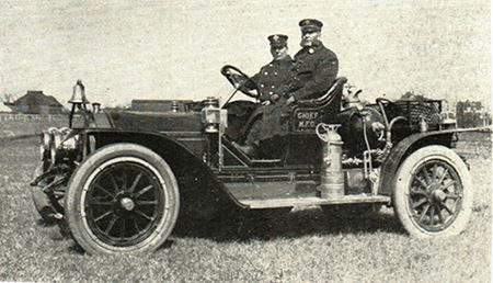 Historic photo of Fire Chiefs Cushing and Brown